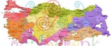 Türkiye Bölgeler ve İller Haritası