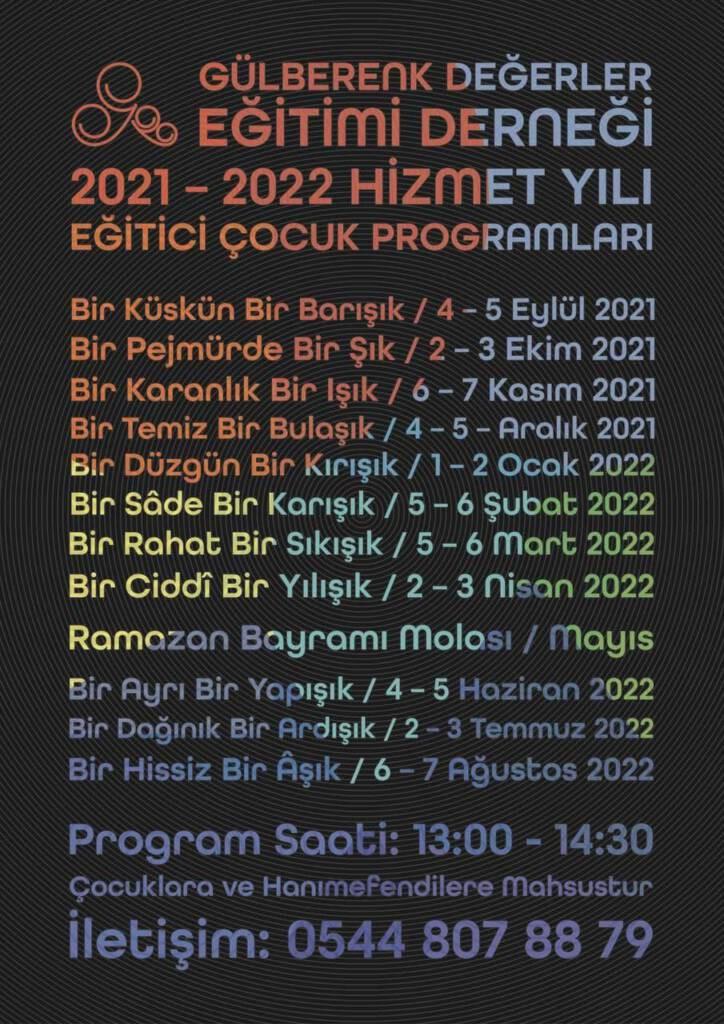 Gülberenk 2020 - 2021 Broşürü için Tıklayınız